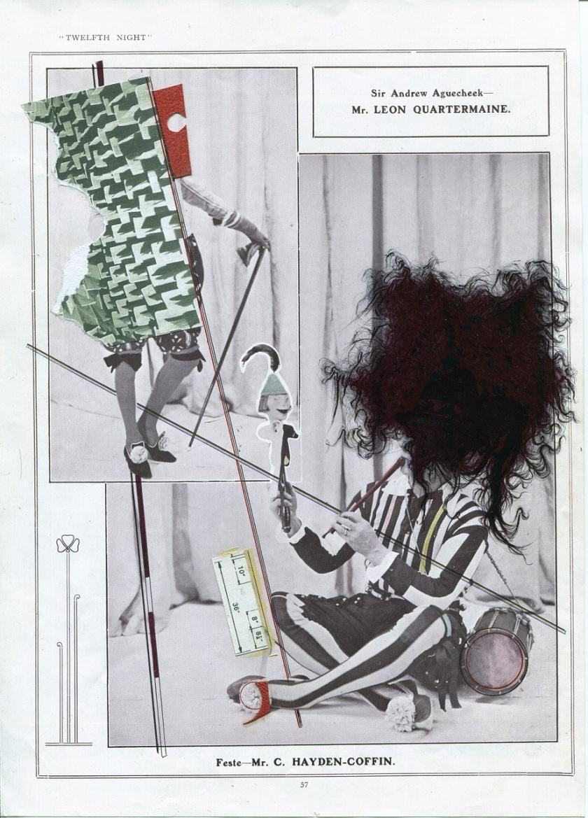 SEB PATANE, Feste, penna a sfera, matita, acrilico collage e smalto su carta stampata 2017, LGT