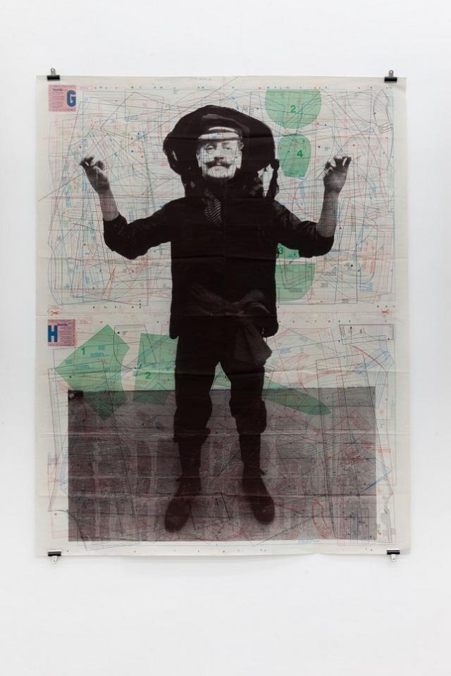 SEB PATANE, Patrons Paper 10_97, serigrafia e matita su carta stampata (2012), LGT